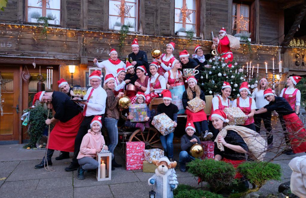 Bürgisweyerbad Team im Weihnachtslook 2019