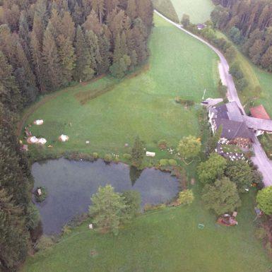 Restaurant Buergisweyerbad | Bildaufnahme aus der Luft