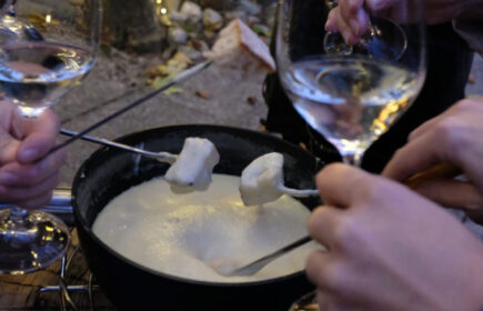 Fondue im Restaurant Bürgisweyerbad